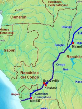 Congo River: This file is licensed under the Creative Commons Attribution 2.5 Poland license