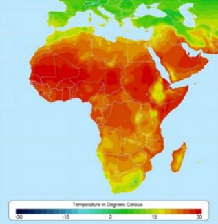 About Africa Temperatures: This file is licensed under the Creative Commons Attribution-Share Alike 3.0 Unported license