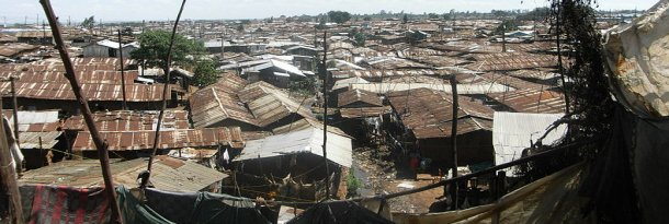 Kibera Slum: This file is licensed under the Creative Commons Attribution-Share Alike 3.0 Unported license